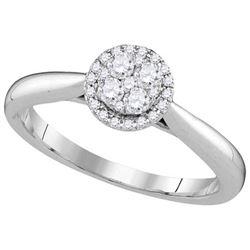 14KT White Gold 0.25TW-Diamond LARISSA RING
