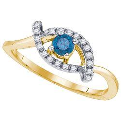 10K Yellow-gold 0.32CTW DIAMOND 0.22CT-CRD BRIDAL RING