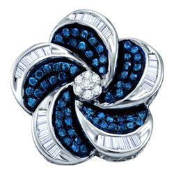 10KT White Gold 0.51CT BLUE DIAMOND FASHION PENDANT