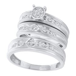 10KT White Gold 0.26 CT DIAMOND FASHION TRIO SET