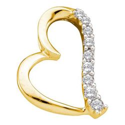 14KT Yellow Gold 0.25CTW DIAMOND LADIES HEART PENDANT