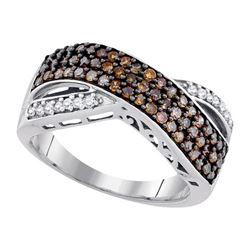 10K White-gold 0.70CTW DIAMOND COGNAC RING