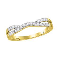 14kt Yellow Gold Womens Round Diamond Contour Enhancer