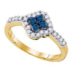 10K Yellow-gold 0.40CT DIAMOND FASHION RING