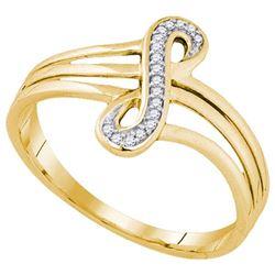 10K Yellow-gold 0.04CTW DIAMOND FASHION RING