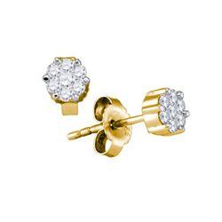 14KT Yellow Gold 0.35CTW DIAMOND SEVILLE EARRINGS