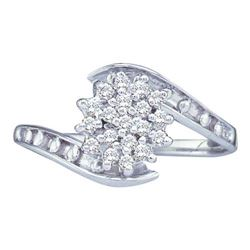 10KT White Gold 0.49CT-Diamond FASHION RING