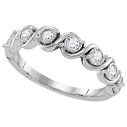 10KT White Gold 0.33CTW-Diamond FASHION BAND