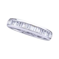 14KT White Gold 0.50CTW BAGGUETTE DIAMOND LADIES FASHIO