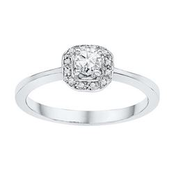 10KT White Gold 0.25CTW DIAMOND 0.20CT-CRD BRIDAL RING