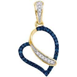 10K Yellow-gold 0.13CT DIAMOND HEART PENDANT