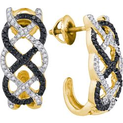10K Yellow-gold 0.50CTW DIAMOND FASHION EARRINGS