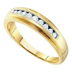 10K Yellow-gold 0.27CT DIAMOND FASHION MENS BAND