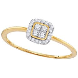 10KT White Gold 0.14CTW-Diamond FASHION RING