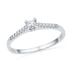 10KT White Gold 0.13CTW DIAMOND FASHION RING