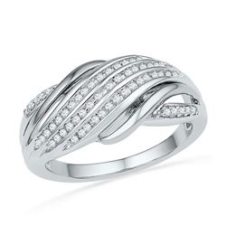 10KT White Gold Two Tone 0.20CTW DIAMOND FASHION BAND