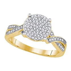 10KT Yellow Gold 0.30CTW DIAMOND MICRO-PAVE RING