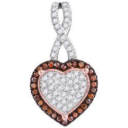 10KT Rose Gold 0.25CTW DIAMOND HEART PENDANT
