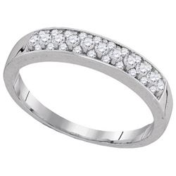 10KT White Gold 0.25CTW DIAMOND MACHINE-SET BAND