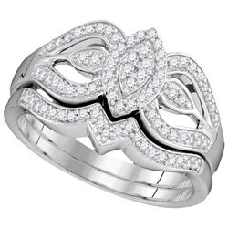 10KT White Gold 0.33CTW DIAMOND BRIDAL SET
