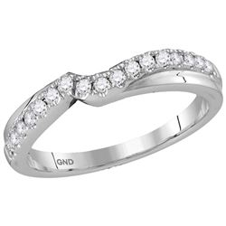 14K White Gold Diamond Jacket Enhancer Engagement Conto