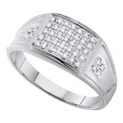 10KT White Gold 0.27CTW DIAMOND MICRO PAVE RING