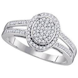10KT White Gold 0.25CTW DIAMOND BRIDAL RING