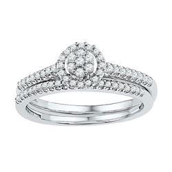 10KT White Gold 0.33CTW DIAMOND BRIDAL SET