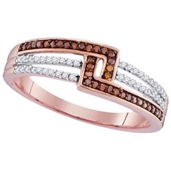10KT Rose Gold 0.10CTW DIAMOND MICRO-PAVE RING