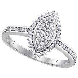 10KT White Gold 0.50CTW DIAMOND MICRO-PAVE BRIDAL RING
