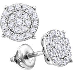 10kt White Gold Womens Round Natural Diamond Cindys Dr