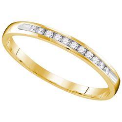 10k Yellow Gold Womens Natural Round Diamond Wedding An