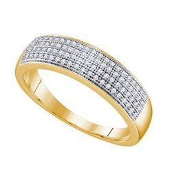 10K Yellow-gold 0.25CT DIAMOND MICRO PAVE MENS BAND