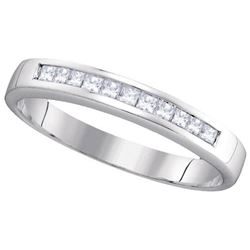 14KT White Gold 0.25CT DIAMOND INVISIBLE BAND