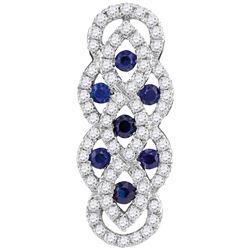 Womens 10K White Gold Blue Enhanced Real Diamond Infini