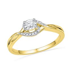 10K Yellow-gold 0.10CTW DIAMOND FASHION RING