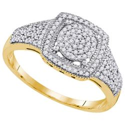 10K Yellow-gold 0.33CTW DIAMOND MIRO-PAVE RING