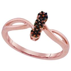 10KT Rose Gold 0.06CTW DIAMOND MICRO-PAVE RING