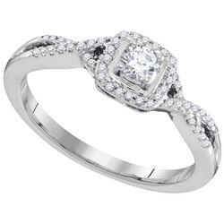 10KT White Gold 0.32CTW DIAMOND FASHION RING