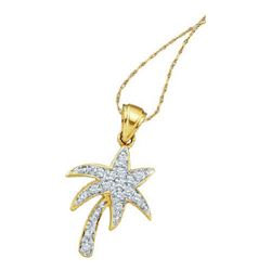 10KT Yellow Gold 0.10CTW DIAMOND TREE PENDANT