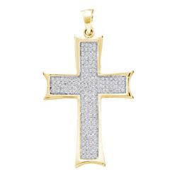 10KT Yellow Gold 0.50CTW DIAMOND CROSS CHARM
