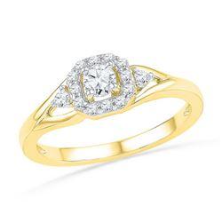 10K Yellow-gold 0.30CTW DIAMOND FASHION RING