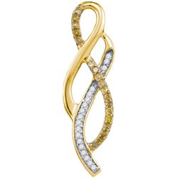 10K Yellow-gold 0.20CTW DIAMOND FASHION PENDANT