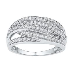 10KT White Gold 0.42CTW DIAMOND FASHION BAND