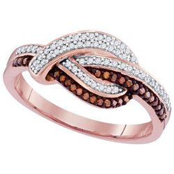 10KT Rose Gold 0.25CTW RED DIAMOND MICRO-PAVE RING