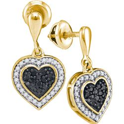 10K Yellow-gold 0.50CTW DIAMOND MICRO PAVE EARRING