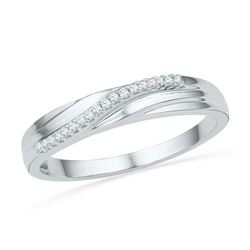 10KT White Gold 0.06CTW DIAMOND FASHION BAND