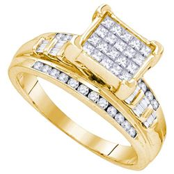 925 Sterling Silver Yellow 1.00CTW DIAMOND FASHION RING