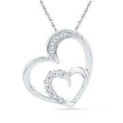 10KT White Gold 0.04CTW DIAMOND FASHION PENDANT