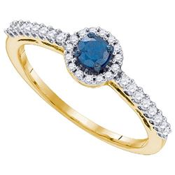 10K Yellow-gold 0.42CTW DIAMOND BRIDAL RING
